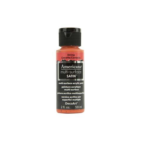 Better Crafts MULTI SURFACE ACRYLIC PAINT SHRIMP CORAL 2OZ (3 pack) (0DAMS541-300)