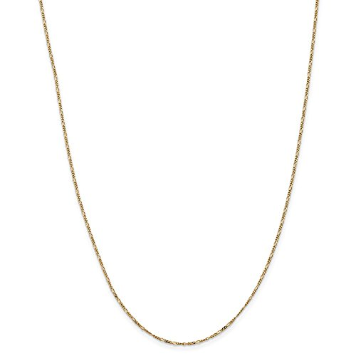 14k Yellow Gold 1.25mm Flat Link Figaro Necklace Chain Pendant Charm Fine Jewelry Gifts For Women For Her