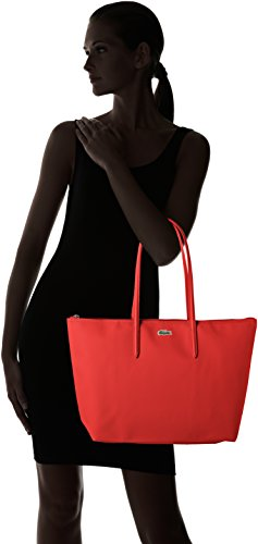 5x35 Rouge W Sac Red x x High Risk Femme cm Bandouliere Toile H PVC Cabas L 14x29 Lacoste BFR0q1R