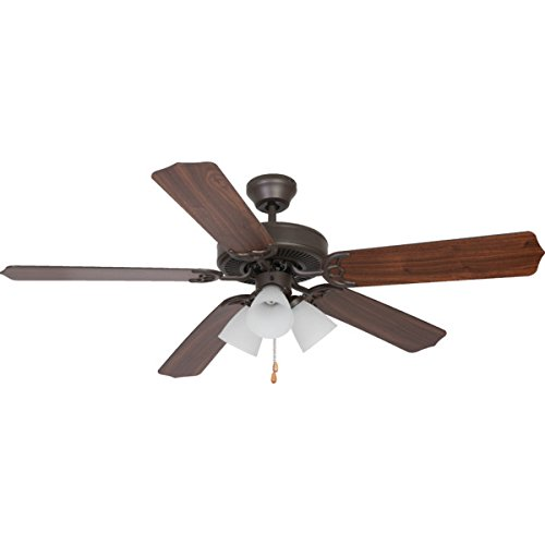 Seasons? 52'' Dual Mount Ceiling Fan Bronze Tulip Light by Seasons