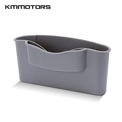 KMMOTORS Double Side Pocket, Car Pocket Organizer, Simple Organizer for Smart Phone + Pen + Name-card (Gray)
