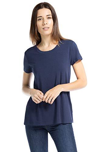 Fishers Finery Women's Bamboo Viscose Short Sleeve T-Shirt (Navy, XL)