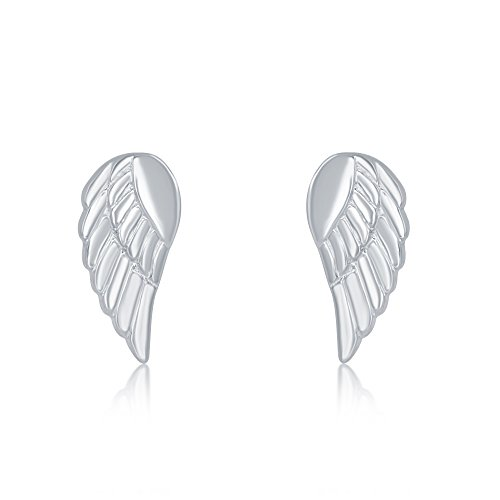 Sterling Silver Small Angel Wing Stud Earrings