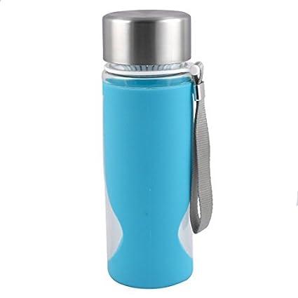 eDealMax plástico Camping colador de té que Bebe la Botella de agua del Deporte Taza de