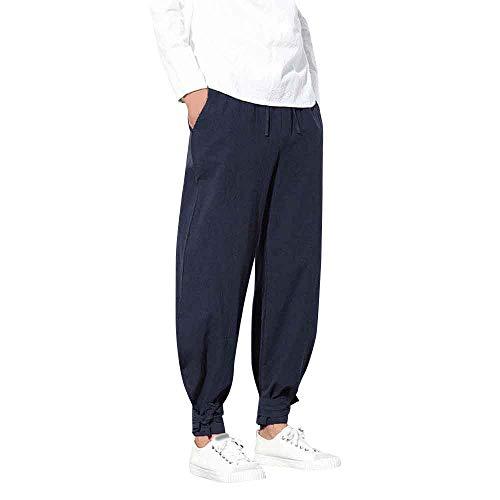 ショートパンツ メンズ Dafanet ハーフパンツ メンズ スポーツ 七分丈 大きいサイズ サルエルパンツ ズボン 袴パンツ ワイドパンツ ファッション 麻 短パン カジュアル 夏 無地 調整紐 ゆったり 通気性
