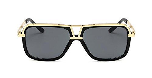 Lennon Feuille retro du vintage rond en Grise métallique inspirées soleil lunettes de polarisées B style cercle qH80Oa