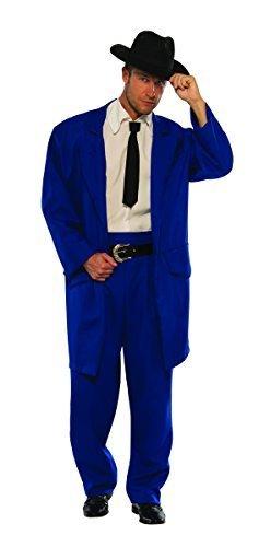 Pizzaz! Men's Plus Size Costume Zoot Suit, Blue,