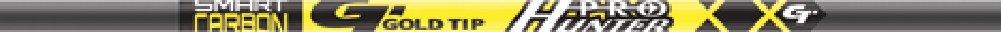 1 Dozen Gold Tip Pro Hunter Arrow Shafts Black, 55/75