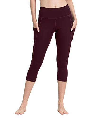 ALONG FIT Yoga Pants for Women with Phone Pockets, Compression Workout Leggings Tummy Control Yoga Shorts Capris - Capri Dry