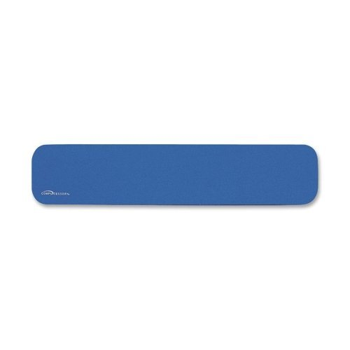 Wholesale CASE of 25 - Compucessory Economy Wrist Rests-Wresters, Non-Skid Base, 18-3/4''x4''x1/2'', Blue by CCS
