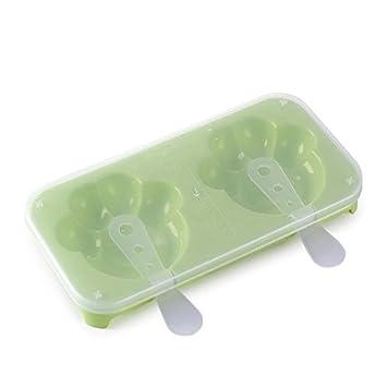 Hnks - Moldes para cubitos de hielo y helados verde: Amazon ...