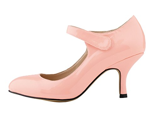 Women's Classic Stiletto Pointy Toe High Heel Pumps Shoes For Sexy Evening Party Dress 02#pink patent pu TEOiwqv