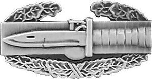 US Army Oxidized Combat Action Badge 1