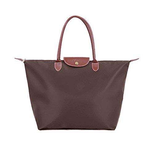 Bolsos de nylon, bolso de la momia del paño de Oxford, bolsos de compras del recorrido del hombro del hombro, bolso de las bolas de masa hervida ( Color : Vino rojo ) Dark brown color