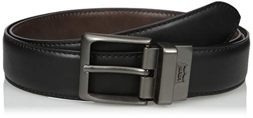 Leather Feather Edge - Levi's Men's  1 1/2 in.Reversible Feather Edge Belt,Black/Brown,40