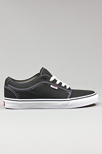 Vans Chukka Low Black/White Skateboard Shoes-Men 9.5, Women 11.0