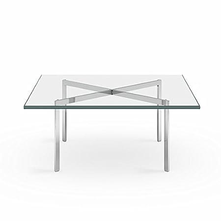 Mesa Auxiliar de Cristal, diseño de Barcelona de Mies Van Der Rohe ...