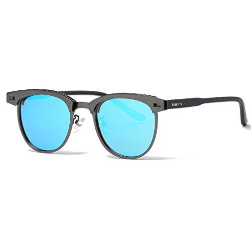 Kimorn Polarized Sunglasses Semi-Rimless Metal Frame Classic Sun Glasses K0558 - Are Glasses Cool