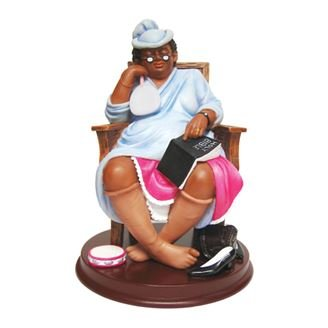 """African American Expressions - One More Day, Lord Figurine (5.25"""" x 5.25"""" x 7.5"""") F1MD-01"""