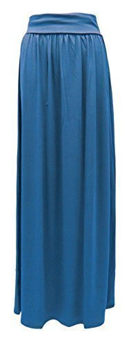 GLAM COUTURE NEUF FEMMES LONG EXTENSIBLE JUPE LONGUE JERSEY GB TAILLES 8-14 Sarcelle
