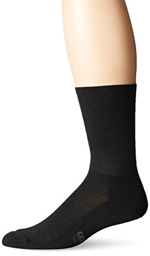 New Balance Unisex 1 Pack Wellness Crew Socks Black Large