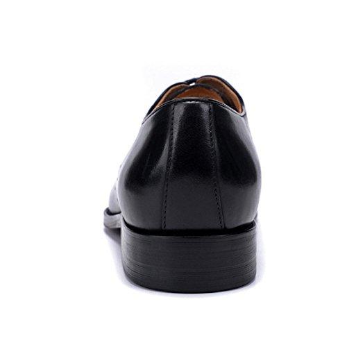 Comodo in Maschi Affari Black Basso NIUMJ Guida Elegante Scarpe Banchetto Casuale Pelle Traspirante Aiuto F8AdnWPg
