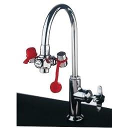 Guardian Eyesafe Faucet-Mounted Eye Washes - Emergency Faucet Mountedeye Wash W/Adjustabl