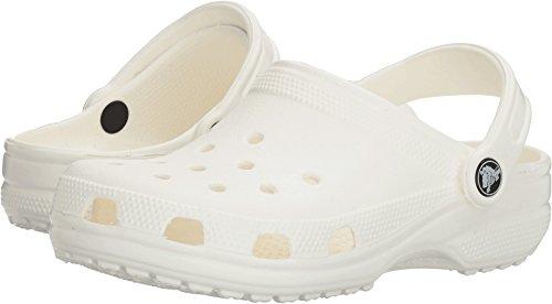 crocs Unisex Classic Clog, White, 6 US Men / 8 US Women