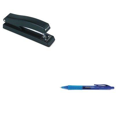 KITUNV39913UNV43118 - Value Kit - Universal Clear Barrel Roller Ball Retractable Gel Pen (UNV39913) and Universal Economy Full Strip Stapler ()
