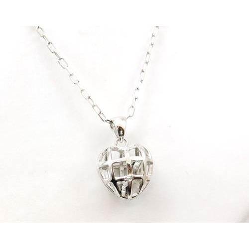 Toc Sterling Silver Unlock My Heart Pendant on 18 Inch Chain