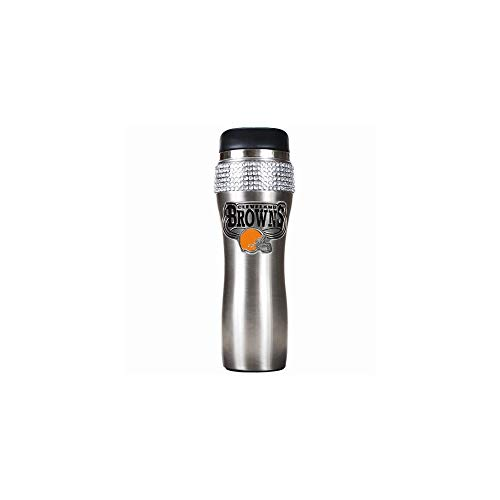 (NFL Cleveland Browns 16-Ounce Stainless Steel Bling Tumbler)