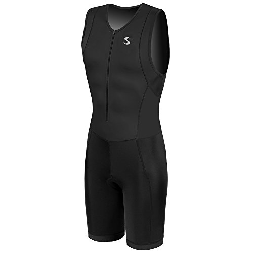 Synergy Men's Triathlon Trisuit (Black/Black, Large) -