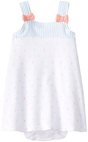 Isaac Mizrahi Baby-Girls Newborn Nautical Sleeveless Sundress with Built-In Diaper Cover, Multi, 9 Months