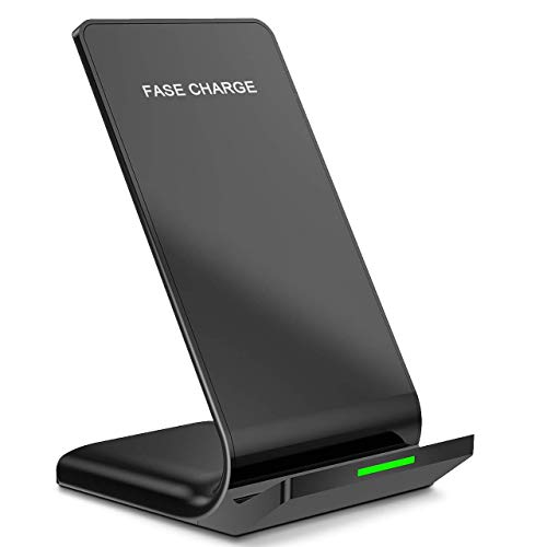 Wireless Charger, Qi Certified Taurusus Advanced Wireless Charging Stand Compatible iPhone XR/Xs Max/XS/X/8/8 Plus with Samsung Galaxy Note 9/S9/S9 Plus/Note 8/S8 and Other Qi-Enabled Devices (Fast Stand Charge)