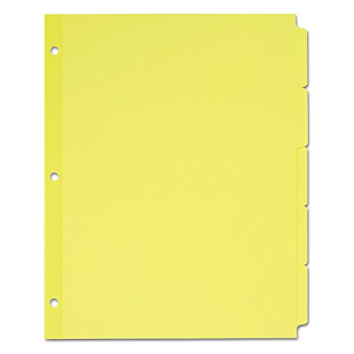 Wholesale Avery Plain Tab Write-On Dividers, 5-Tab, 36 Sets (11501)