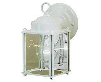 Kichler 9611WH Patio Wall Sconce Lantern Outdoor Lighting, White 1-Light (5'' W x 9'' H) 60 Watts