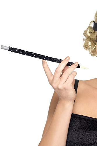 Forum Novelties Smiffys Sequinned Cigarette Holder Black Adult