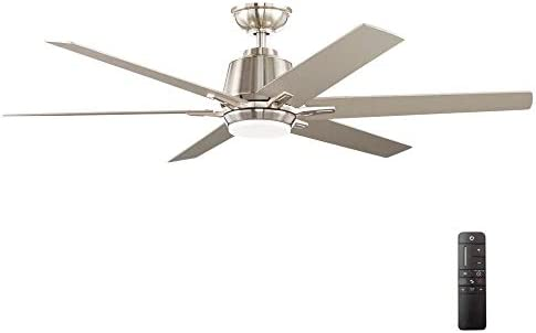 Home Decorators Collection YG493A-BN Kensgrove 54 in. Integrated LED Indoor Brushed Nickel Ceiling Fan