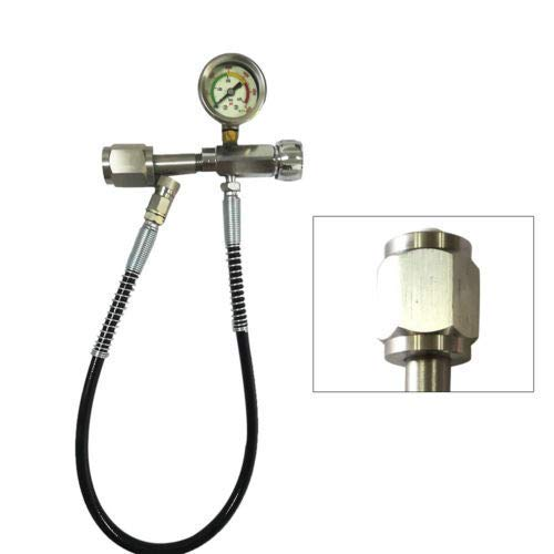 ZHFEISY 4500 PSI Refill Charging Adaptor + 60cm Microbore Hose Durable Brass Fittings