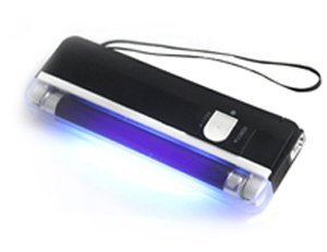 6 Inch Portable Handheld Blacklight with LED Flashlight - UV Stamp Detection of Fluorescent Marks / Certificates, Repairs and Money Detector
