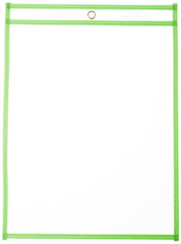 C-Line Stitched Shop Ticket Holder 9 x 12 Inches, Green (43913)