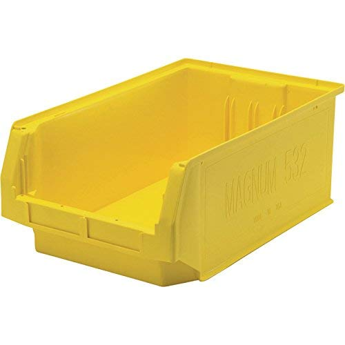 Quantum Storage Magnum Bin - 6-Pack, 19 3/4in.L x 12 3/8in.W x 7 7/8in.H, Yellow, Model# QMS532YL-Z