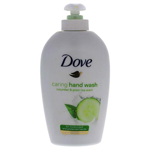 Dove Liquid Caring Hand Wash Cucumber & Green Tea Scent by Dove for Unisex - 6.7 Oz Hand Wash, 6.7 Oz