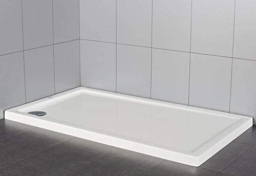 Plato de ducha rectangular en material acrílico | altura 5 cm ...