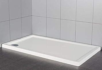 Plato de ducha rectangular en material acrílico | altura 5 cm | serie extraplano 70 X 160 cm: Amazon.es: Bricolaje y herramientas