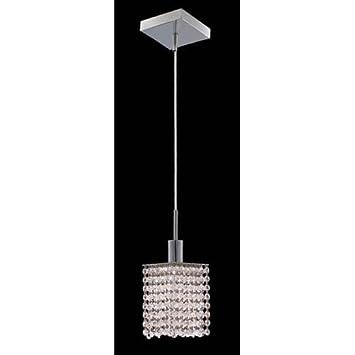 Amazon.com: Elegante iluminación Mini Royal Crystal Square ...