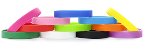 Silicone Wristbands Rubber Bracelets Charms Adult 12Pcs Mixed