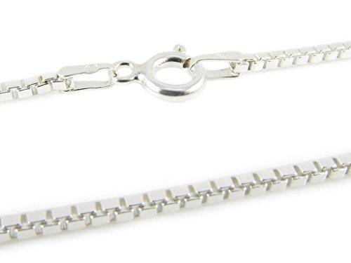 [925 Sterling Silver 1.5 mm Venice Box Chain Size: 16 18 20 22 24 inch (22