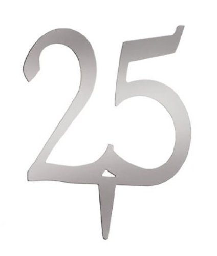 DARICE VL325NUM Mirror Acrylic Number 25-Cake Topper with...