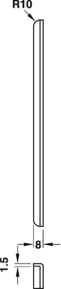 1 St/ück JUVA Winkel-Schlie/ßblech zum Einlassen T/ürschlie/ßblech Stahl Lappenschlie/ßblech f/ür Zimmert/üren f/ür gef/älzte T/üren 170 mm H5541